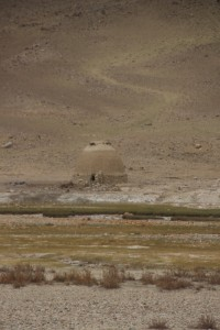 a mausoleum on the Afghan side