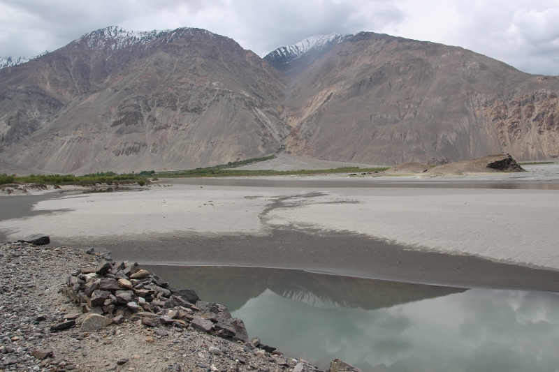 the Panj River, and Afghan alluvial fans