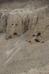 man-made Buddhist caves near Vrang