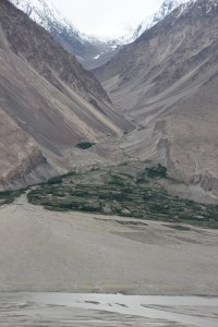 view of an Afghan alluvial fan, from the fortress