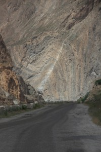 well, one geological photo, then: somebody painted the fold plane