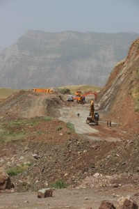 road building underway