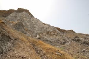 the Khoja Mumin salt mountain near the town of Vose