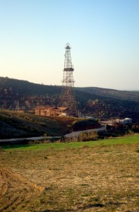Albanian drilling rig in the Divjake gas field