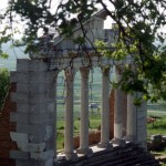 the facade of the so-called bouleuterion, a council building