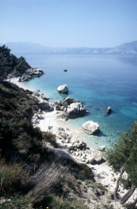 the Adriatic coast near Vlore