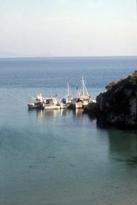 fishing boats near Himara
