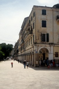 stately buildings with a gallery line the main square