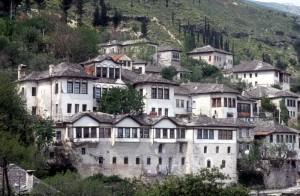 the old Ottoman houses of Gjirokaster