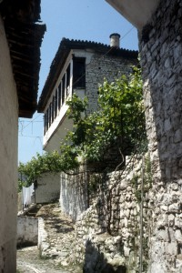 narrow street in Berat