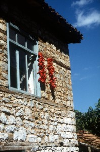 chili peppers, also drying
