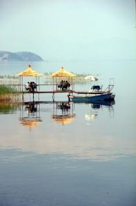 bar-bufet terrace over the Lake Ohrid