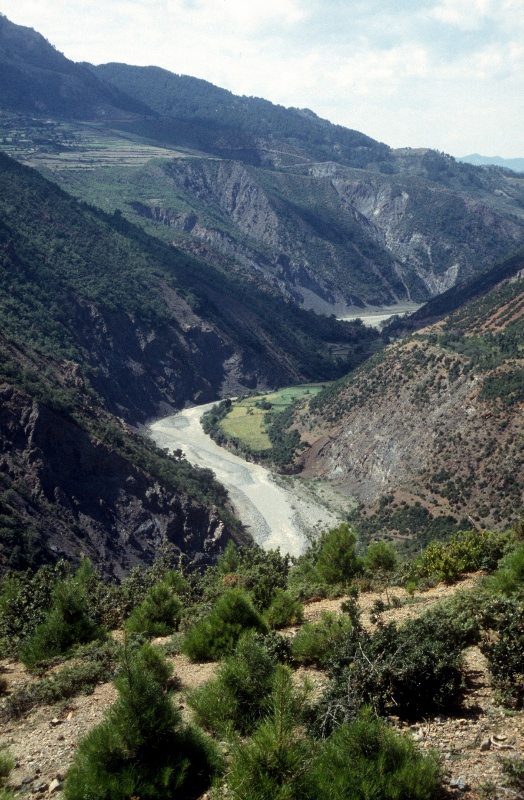 the valley of the Devoll River