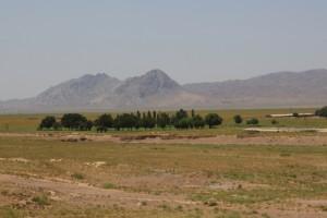 countryside at the Tajik - Uzbek border