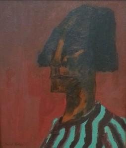 """""""Kopf (head)"""", oil on canvas (1913) - Emile Nolde"""