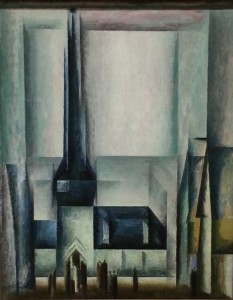 """Gelmeroda III"", oil on canvas (1913) - Lyonel Feininger"