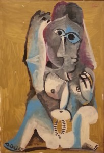 """""""Seated Nude"""", oil on canvas (1969) - Pablo Picasso"""