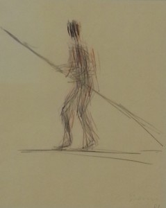 """""""Circus Figure"""", ink on paper - by William Turnbull"""