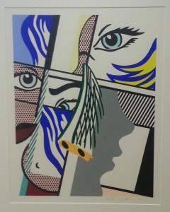 """""""Modern I"""", screenprint on paper - Roy Lichtenstein"""