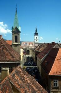 church and square in central Zagreb