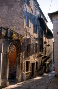 narrow street in Porec (probably)