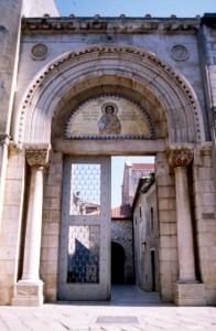 entrance to the Euphrasian Basilica in Porec