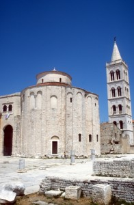 the massive Saint Donatus church in Zadar