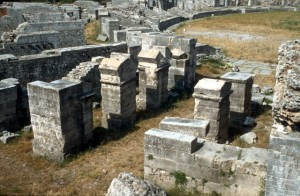 detail of the Roman amphitheatre