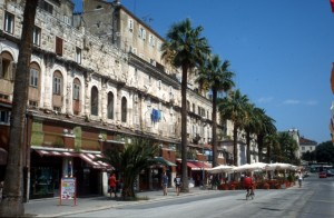 the transformed Diocletian Palace in Split