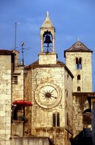 church inside the Roman palace in Split