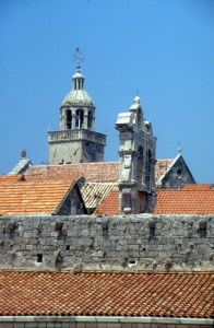 church spires in Korcula