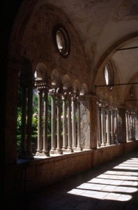 another columned gallery in Dubrovnik