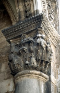 decorations at one of the columns