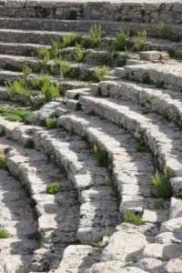 seats of the Greek theatre near Segesta