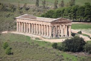 the Greek temple in Segesta
