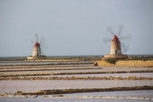 the windmills of the Salinas of Trapani