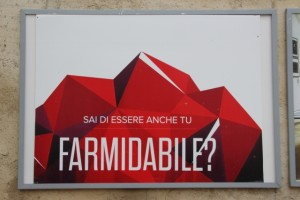 sign at the Farm Culture Park in Favara