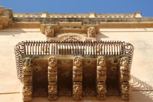 Noto is famous for its balconies of the Pallazo Nicolaci di Villadorata