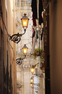 one of the narrow Ortygia streets