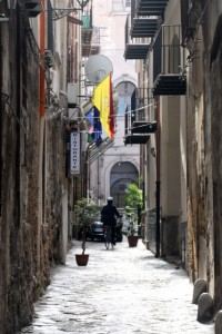 one of those narrow Sicilian streets