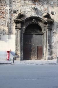 a door, somewhere in town
