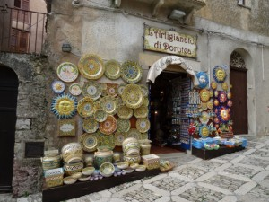 typical tourist shop in Erice
