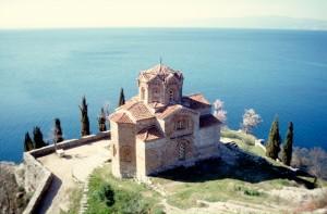 the Saint Ioan Church near Ohrid