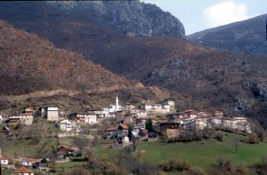 mountain village near Lake Ohrid