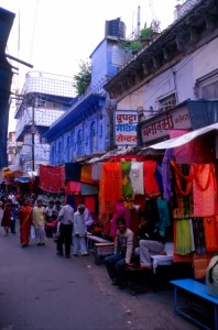 colourful bazaar in Bhopal