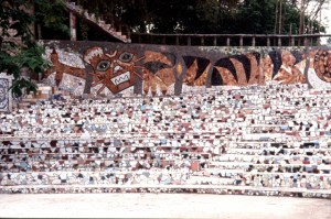 the amphitheater in the Rock Garden