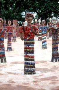 crockery sculpture in the Rock Garden