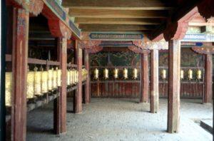 prayer wheels in the Samye monastery