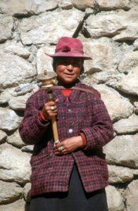 a woman at the Sera monastery