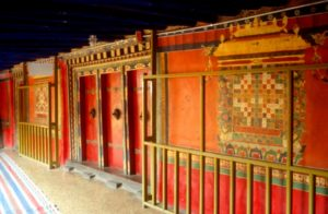 wooden panels and doors inside the Potala Palace